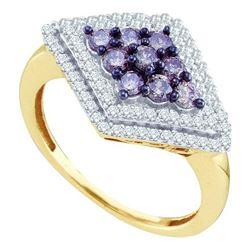 10KT Yellow Gold 0.80CTW DIAMOND FASHION RING