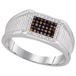 10KT White Gold 0.20CT DIAMOND MENS RING