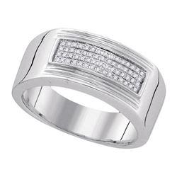 925 Sterling Silver White 0.15CTW DIAMOND FASHION MENS