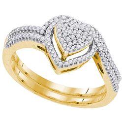 10K Yellow-gold 0.30CTW DIAMOND BRIDAL SET