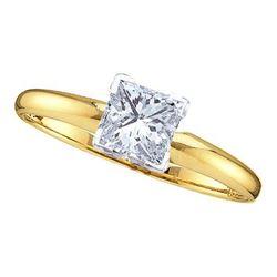 14KT Yellow Gold 0.20CT-(SUP++) PRINCESS DIAMOND SOL