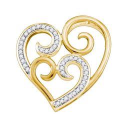 925 Sterling Silver White 0.12CT DIAMOND HEART PENDANT