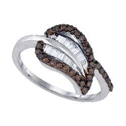 925 Sterling Silver White 0.49CT DIAMOND FASHION RING