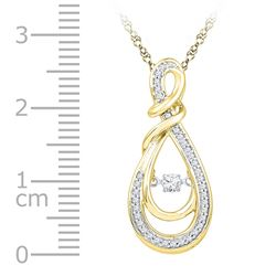 10kt Yellow Gold Womens Round Diamond Twinkle Moving In