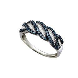 925 Sterling Silver White 0.49CTW DIAMOND FASHION RING