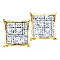 14KT Yellow Gold 0.15CTW ROUND DIAMOND LADIES MICRO PAV