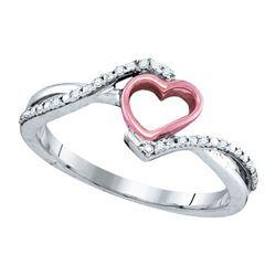 10K White-gold 0.07CTW DIAMOND HEART RING