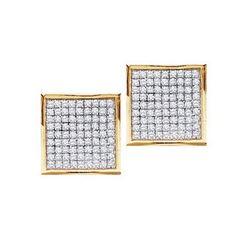 10K Yellow-gold 0.90CTW DIAMOND MICRO-PAVE EARRINGS