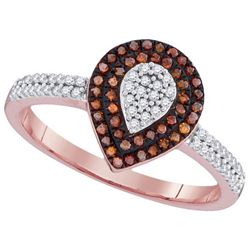 10KT Rose Gold 0.33CTW RED DIAMOND MICRO-PAVE RING
