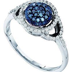 10KT White Gold 0.25CT BLUE DIAMOND FASHION RING