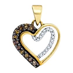 10K Yellow-Gold 0.20CTW DIAMOND HEART PENDANT