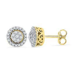 10K Yellow-gold 0.25CTW DIAMOND FASHION EARRING