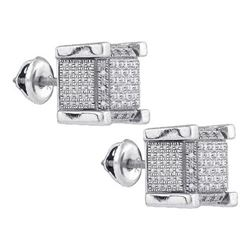 925 Sterling Silver White 0.18CT DIAMOND MICRO-PAVE EAR