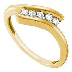 10KT Yellow Gold 0.20CTW DIAMOND FASHION BAND
