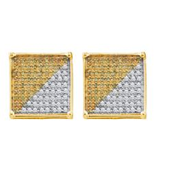 10KT Yellow Gold 1.0CTW DIAMOND MICRO PAVE EARRING