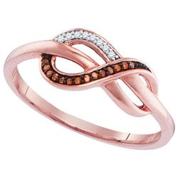 10KT Rose Gold 0.05CTW-Diamond FASHION RING