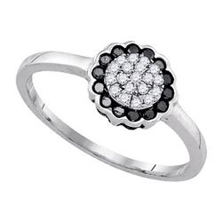 925 Sterling Silver White 0.25CTW DIAMOND FASHION RING
