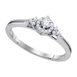 10KT White Gold 0.20CTW DIAMOND BRIDAL RING
