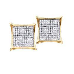 10KT Yellow Gold 0.15CTW ROUND DIAMOND LADIES MICRO PAV