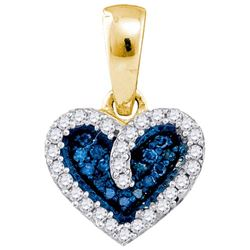 10K Yellow-gold 0.10CT DIAMOND HEART PENDANT