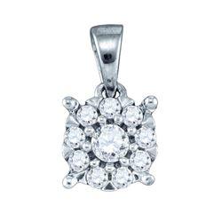 14KT White Gold 0.26CT DIAMOND FASHION PENDANT