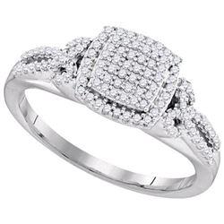 10KT White Gold 0.33CTW DIAMOND MICRO-PAVE BRIDAL RING