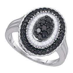 925 Sterling Silver White 0.75CTW DIAMOND MICRO-PAVE RI
