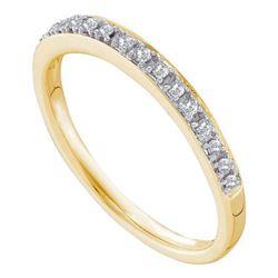 14KT Yellow Gold 0.12CT DIAMOND FASHION BAND