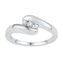 10KT White Gold 0.12CTW DIAMOND FASHION RING