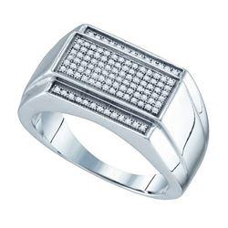 925 Sterling Silver White 0.33CTW DIAMOND MICRO PAVE ME