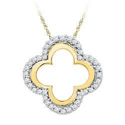 10K Yellow-gold 0.14CTW DIAMOND FASHION PENDANT