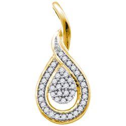 10K Yellow-gold 0.10CTW DIAMOND MICRO PAVE PENDANT