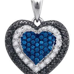 10K White-gold 0.27CTW DIAMOND HEART PENDANT