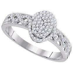 10KT White Gold 0.25CT DIAMOND BRIDAL RING