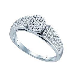10KT White Gold 0.25CTW DIAMOND MICRO PAVE RING