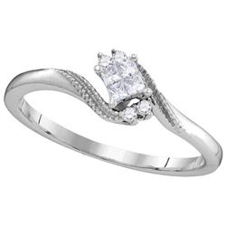 10KT White Gold 0.10CTW DIAMOND INVISIBLE FASHION RING