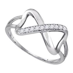 10KT White Gold 0.10CTW DIAMOND FASHION RING