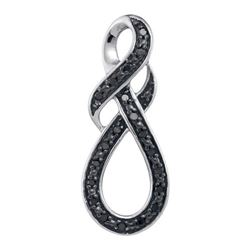 10KT White Gold 0.11CTW DIAMOND FASHION PENDANT