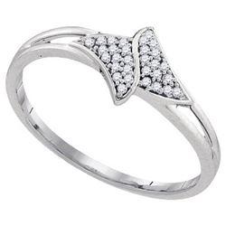 10KT White Gold 0.08CTW DIAMOND FASHION RING