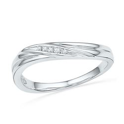 10KT White Gold 0.02CTW DIAMOND FASHION RING