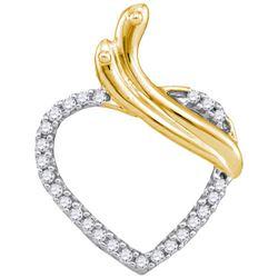 10K Yellow-gold 0.10CTW DIAMOND HEART PENDANT