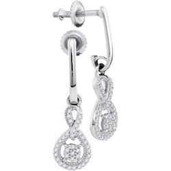 10KT White Gold 0.20CTW DIAMOND MICRO-PAVE EARRING