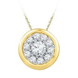 10K Yellow-gold 0.25CTW DIAMOND FAHSION PENDANT