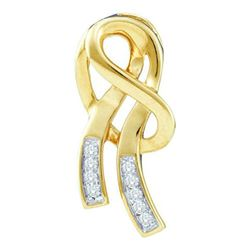10KT Yellow Gold 0.07CTW DIAMOND LADIES FASHION PENDANT