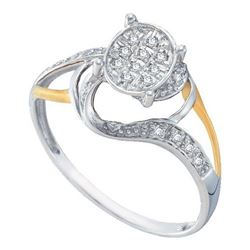 10K White-gold 0.10CT DIAMOND FASHION BRIDAL RING