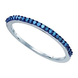10KT White Gold 0.21CTW DIAMOND FASHION BAND