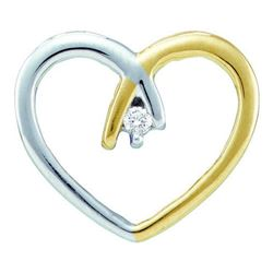 10KT Yellow Gold 0.03CTW DIAMOND HEART PENDANT