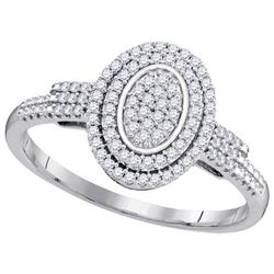 10KT White Gold 0.25CTW DIAMOND MICRO-PAVE BRIDAL RING