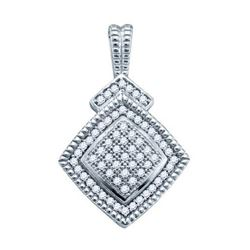 925 Sterling Silver White 0.20CTW DIAMOND LADIES FASHIO