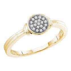 10KT Yellow Gold 0.05CTW DIAMOND MICRO PAVE RING